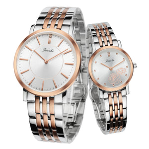 The Rosa - Couple, Dress, Quartz, Two Tone Stainless-Steel, 50M, 520MS-SRG01