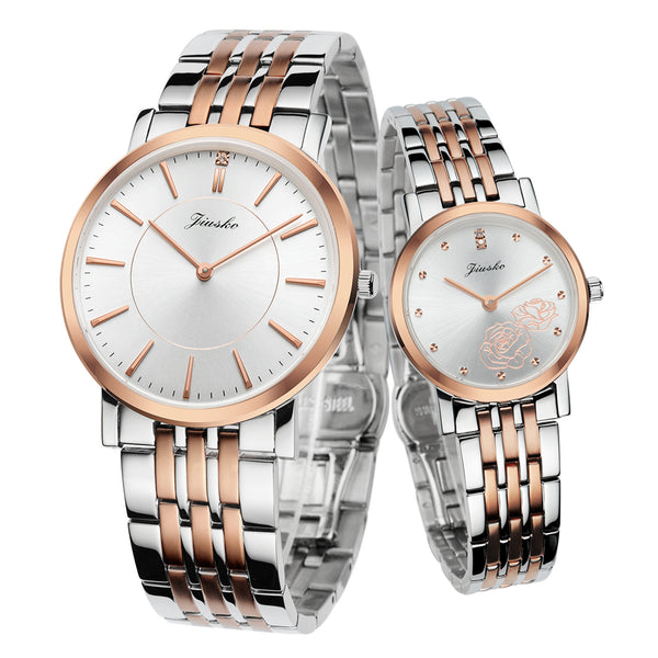 His And Hers Watch Sets >> The Rosa Couple Dress Quartz Two Tone Stainless Steel 50m 520ms Srg01