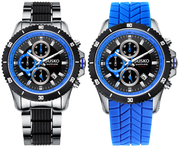 Men's, Sport, Chrono, Quartz, Tachy, 100M, 65LSB08