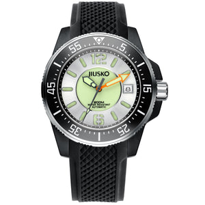 Jiusko Watch,Men's-Sport-Casual-Automatic-Silicone-300mm-73LSB0102