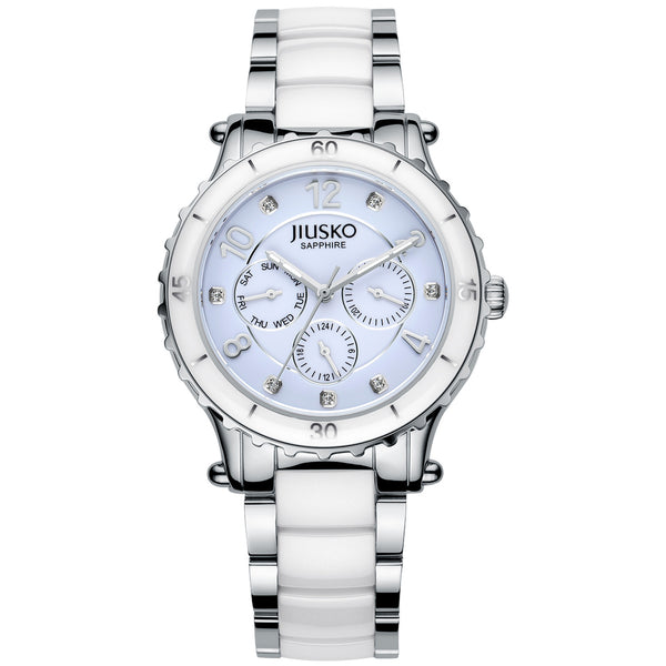 Jiusko Watch,Women's-Dress-Fashion-Ceramic-Stainless Steel-Quartz-Multi-Function-50m-83LSY01