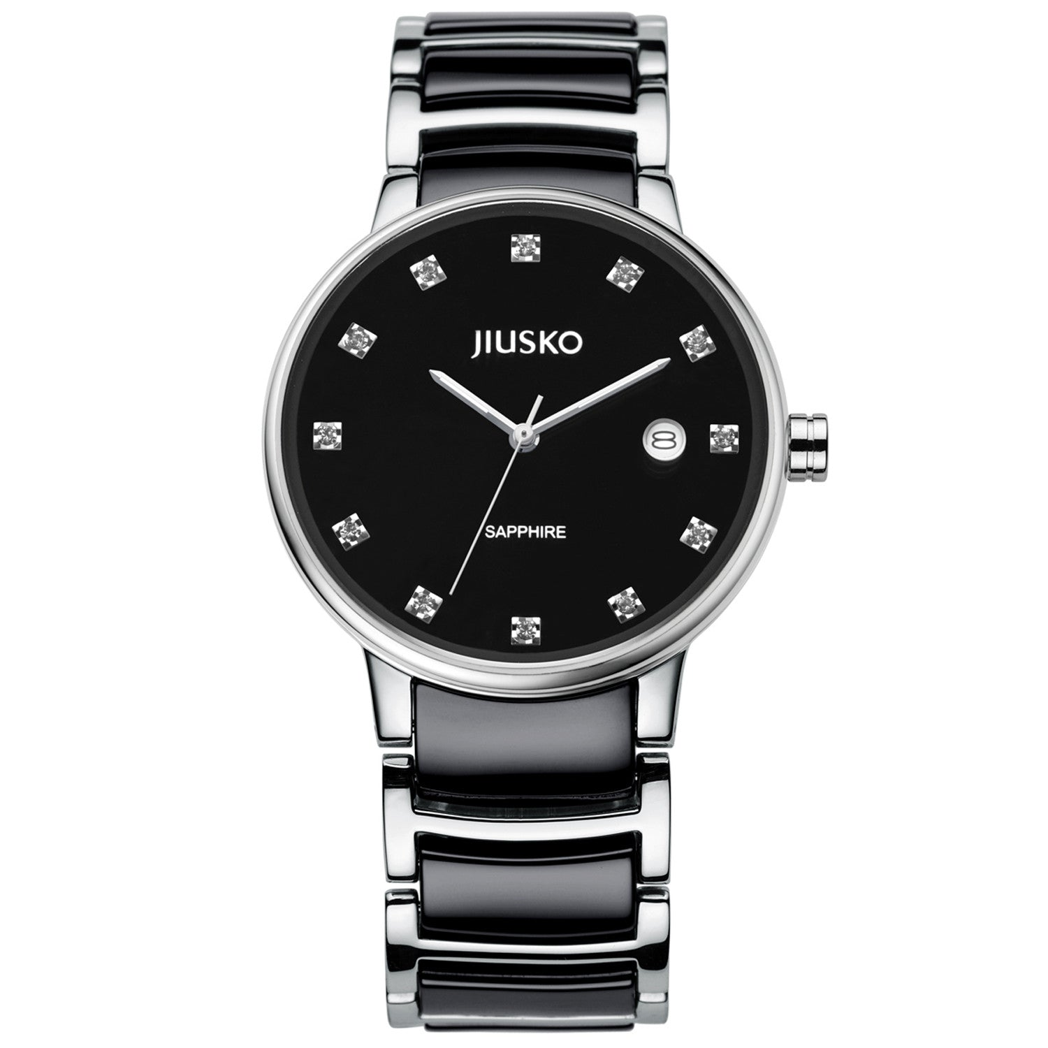 Jiusko Watch,Men's-Dress-Quartz-Ceramic-Stainless Steel-50m-90MSB02
