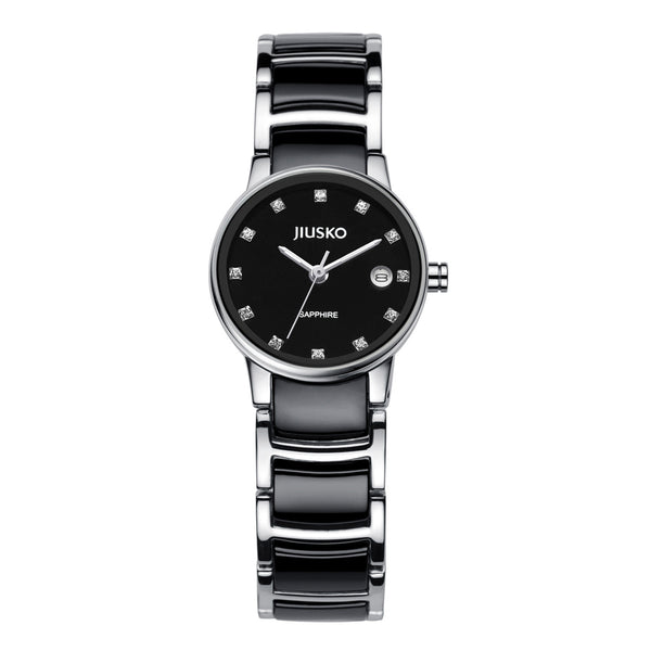 Jiusko Watch,Women's-Dress-Quartz-Ceramic-Stainless Steel-50m-90SSB02