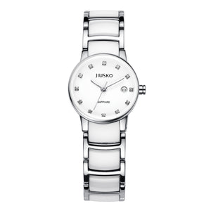Jiusko Watch,Women's-Dress-Quartz-Ceramic-Stainless Steel-50m-90SSY01
