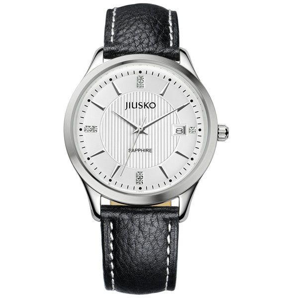 Jiusko Watch,Men's-Dress-Quartz-Leather-50m-99LS0102