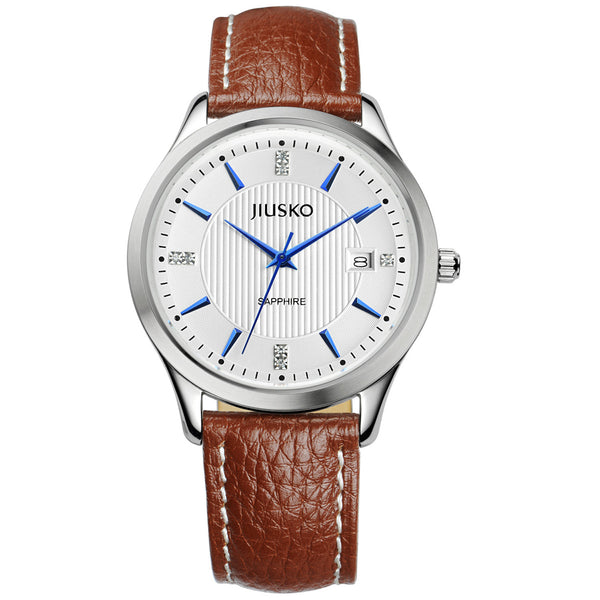 Jiusko Watch,Men's-Dress-Quartz-Leather-50m-99LS0107