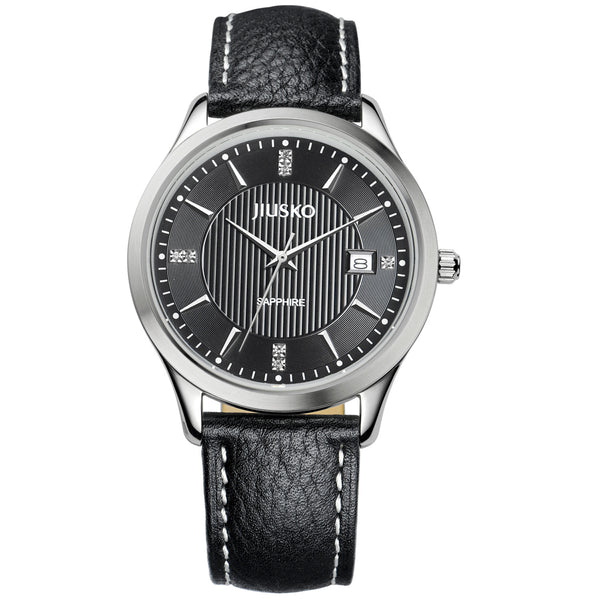 Jiusko Watch,Men's-Dress-Quartz-Leather-50m-99LS0202