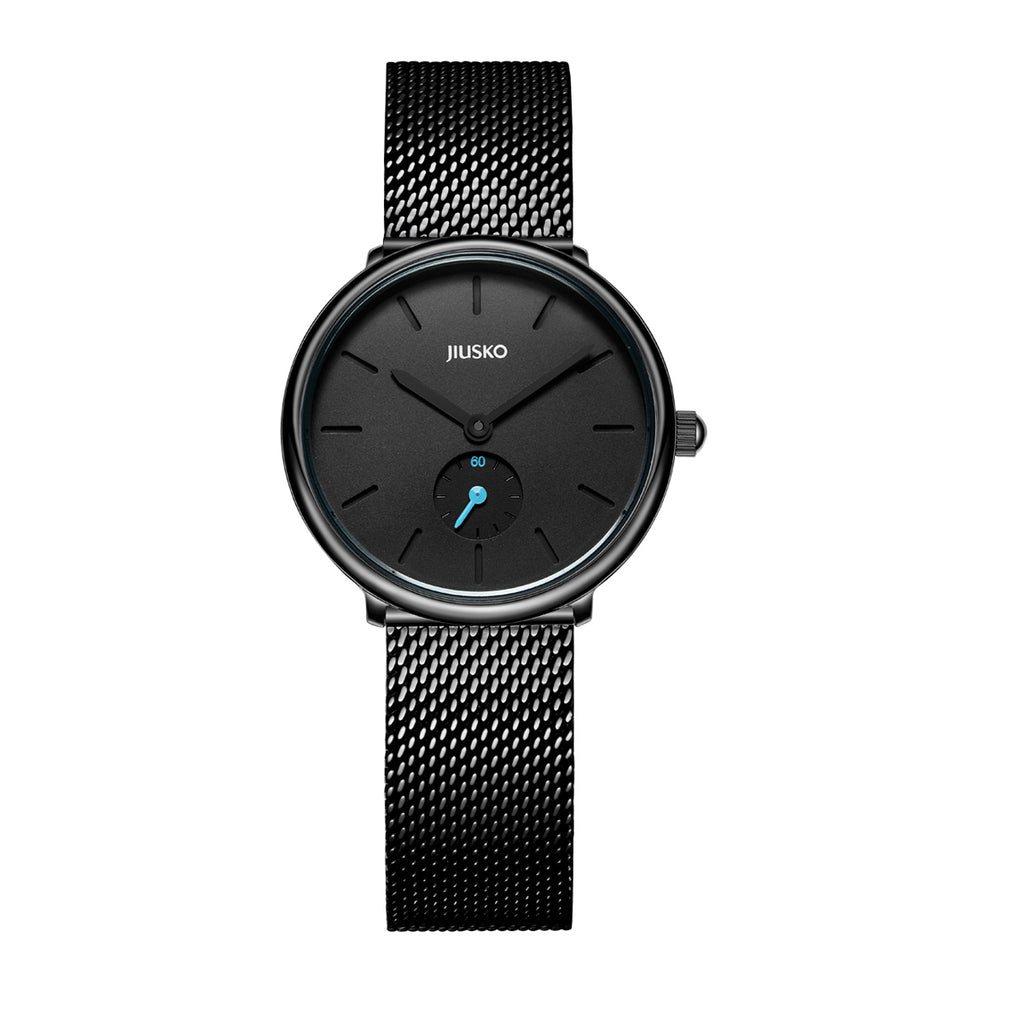 analog marbleized watches watch metal mesh