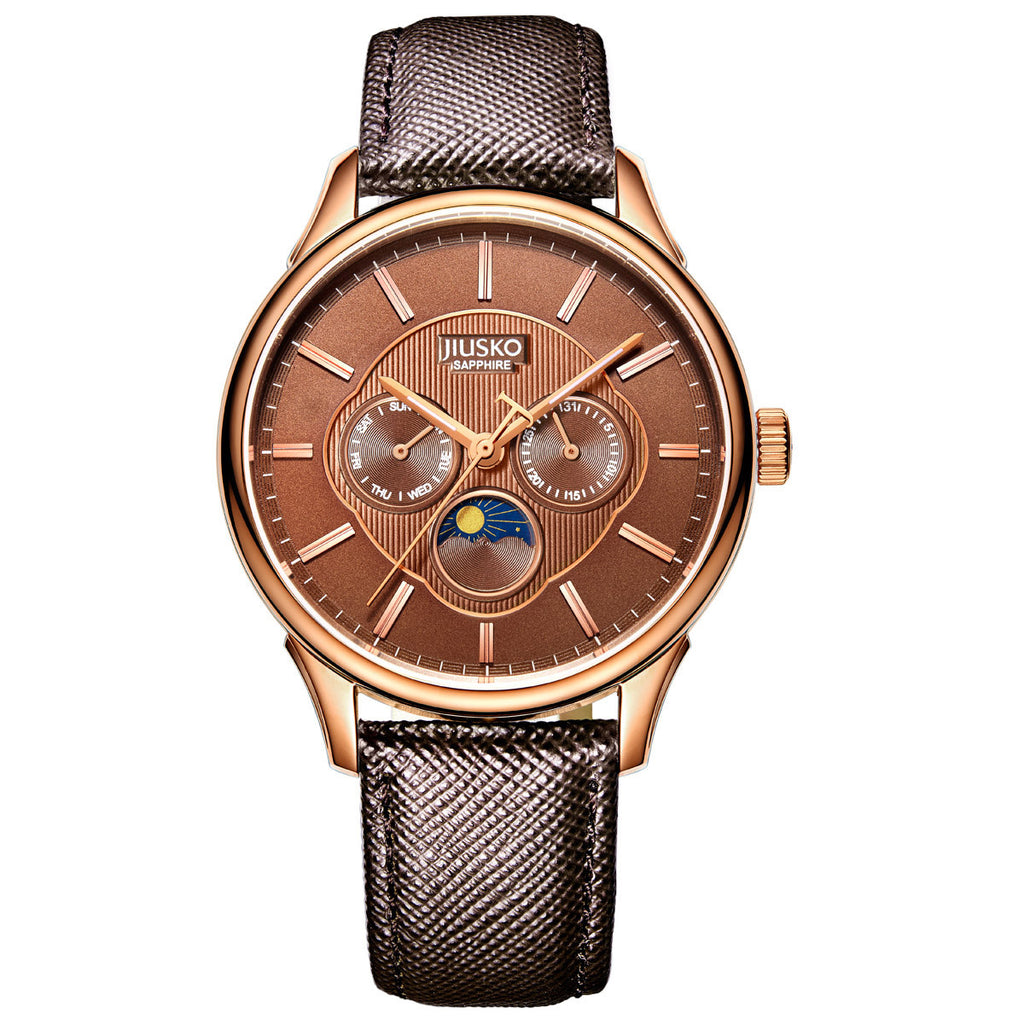Men's, Dress, Quartz, Leather, Multi-Function, 50M, 278LRG0707