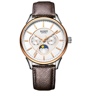Men's, Dress, Quartz, Leather, Multi-Function, 50M, 278LSRG0107