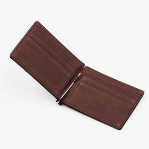 Brand Men Wallet Short Skin Wallets Purses PU Leather Money Clips Solid Thin Wallet For Men Purses 4 Colors