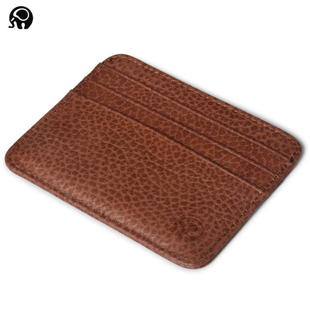 men Wallet Business Card Holder bank cardholder leather cow pickup package bus card holder Slim leather multi-card-bit pack bag