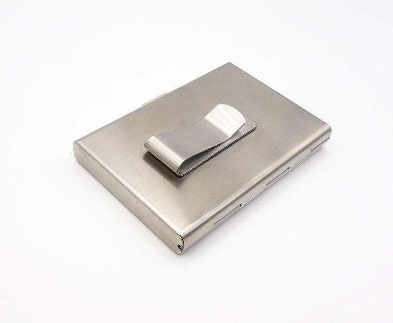 Stainless Steel Aluminium Metal Case Box Men  Business Credit  Card&ID Holder Case Cover women Coin Purse card case RFID wallet