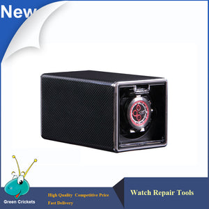 Luxury Black Carbon fiber Spraying Ultra quiet Motor Automatic Watch Winder box, 4 Modes Watch Winder