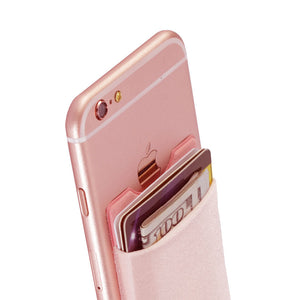 Cell Phone Wallet Case Credit ID Card Holder Pocket Stick On 3M Adhesive Black/Gray/Pink/Golden/Green/Blue/Brown