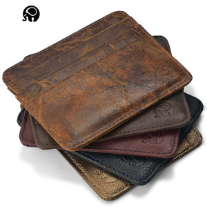 Genuine Leather magic wallet Credit Cart Wallet mini slim wallet card & id holders man women business credit card holder