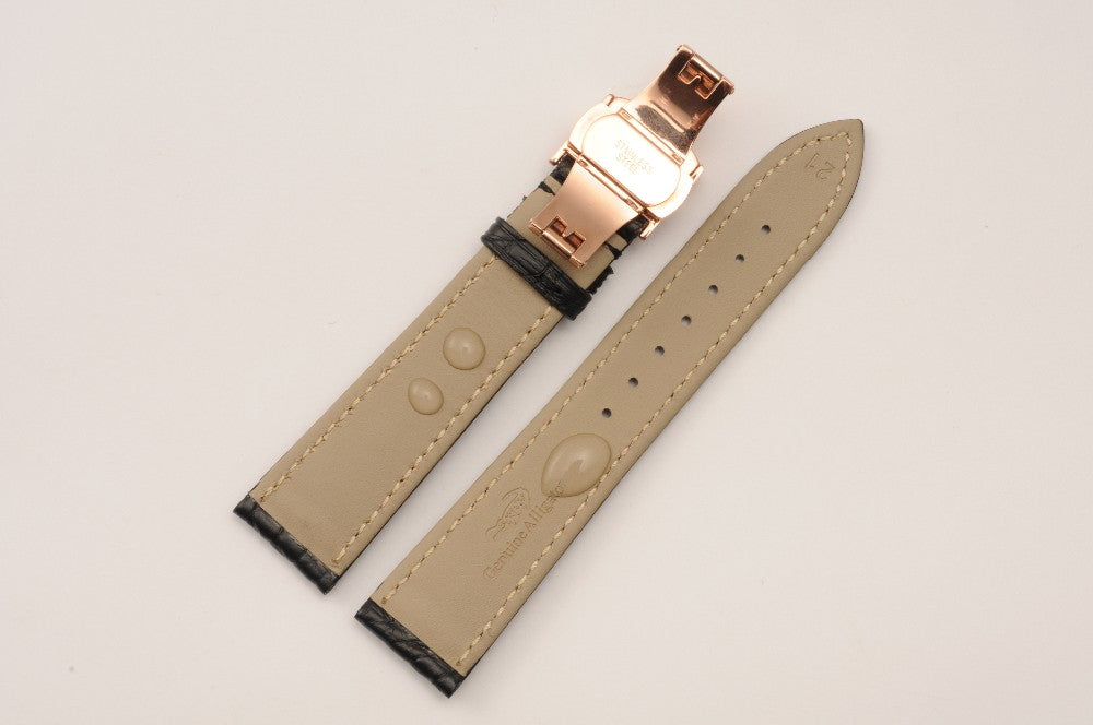 LUXURY ALLIGATOR LEATHER STRAP FOR LONGINES WATCH