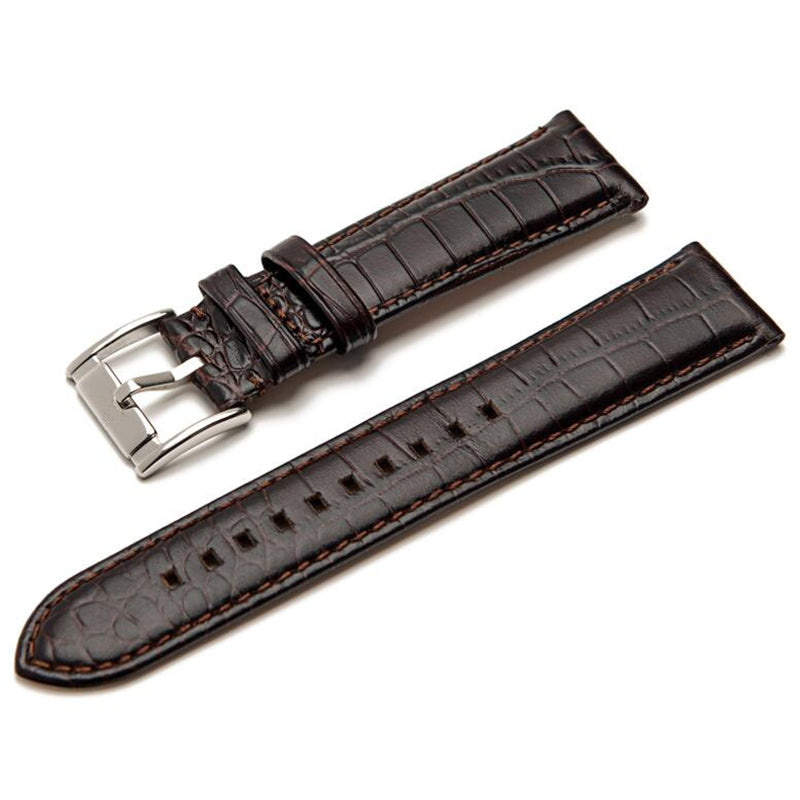 CROCODILE LEATHER STRAP FOR ARMANI WATCH AR0143, AR0144, AR0168, AR2432, AR2447.