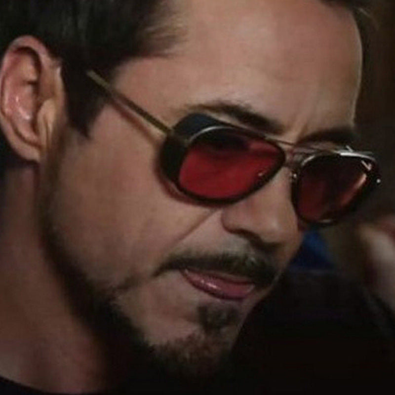 IRON MAN 3 Matsuda TONY Steampunk Sunglasses Men Mirrored Designer Brand Glasses Vintage Sun glasses
