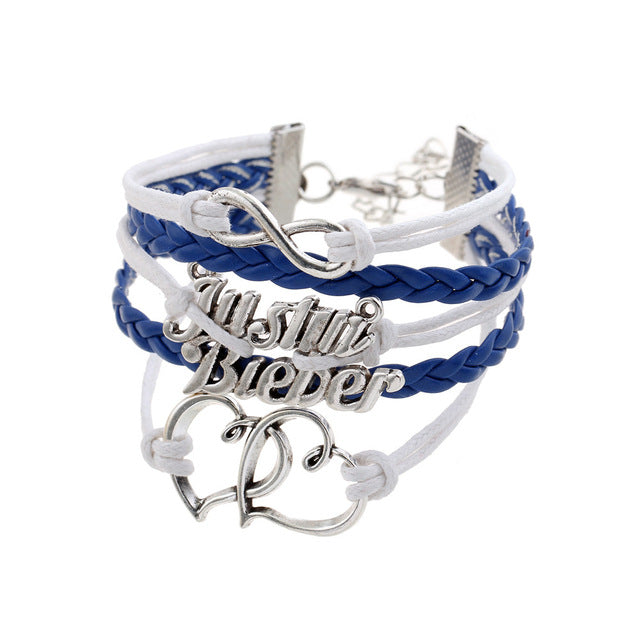 Engrave Epigram Charm Leather Bracelet Various Style Butterfly & LOVE & Anchor Charms Wholesale Jewelry