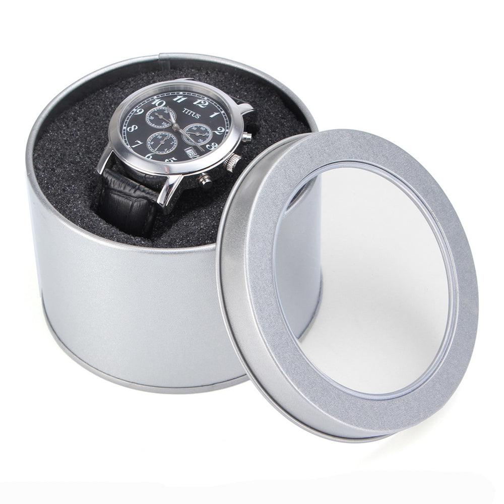 Storage Watch Winder Jewelry Nice Sponge Round Organiser Chic Practical Silver Case Tin Display Gift Box Stylish