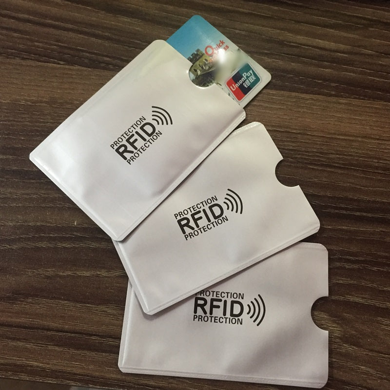New Aluminum Anti RFID Reader Blocking Bank Credit Card Holder Protection, Metal Credit Card Holder