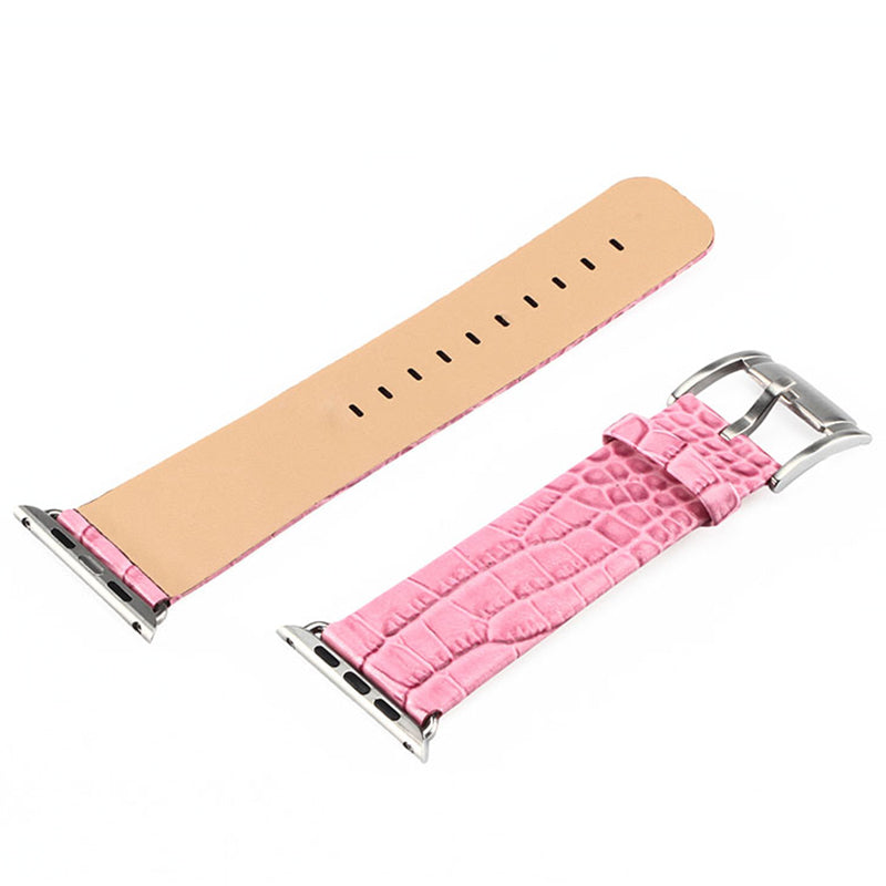 STUNNING CROCODILE LEATHER GRAIN STRAP FOR APPLE WATCH