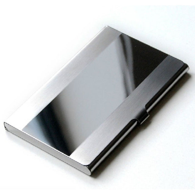 Card Holder Stainless Steel Silver Aluminium, Credit Card Case, Women Wallets,  Men ID Card