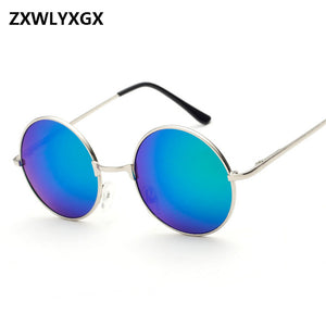 Oversized Retro Round Sunglasses For Women Also for Men, Vintage Sun Glasses  Eye-wear Steampunk Mirror