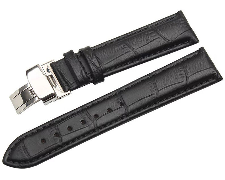 GRAINED CROCODILE LEATHER STRAP