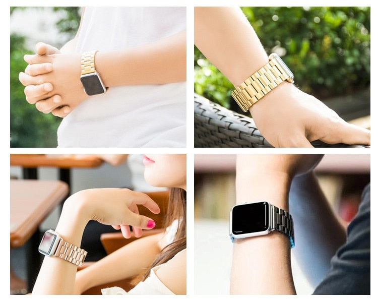 STAINLESS STEEL APPLE WATCH BANDS