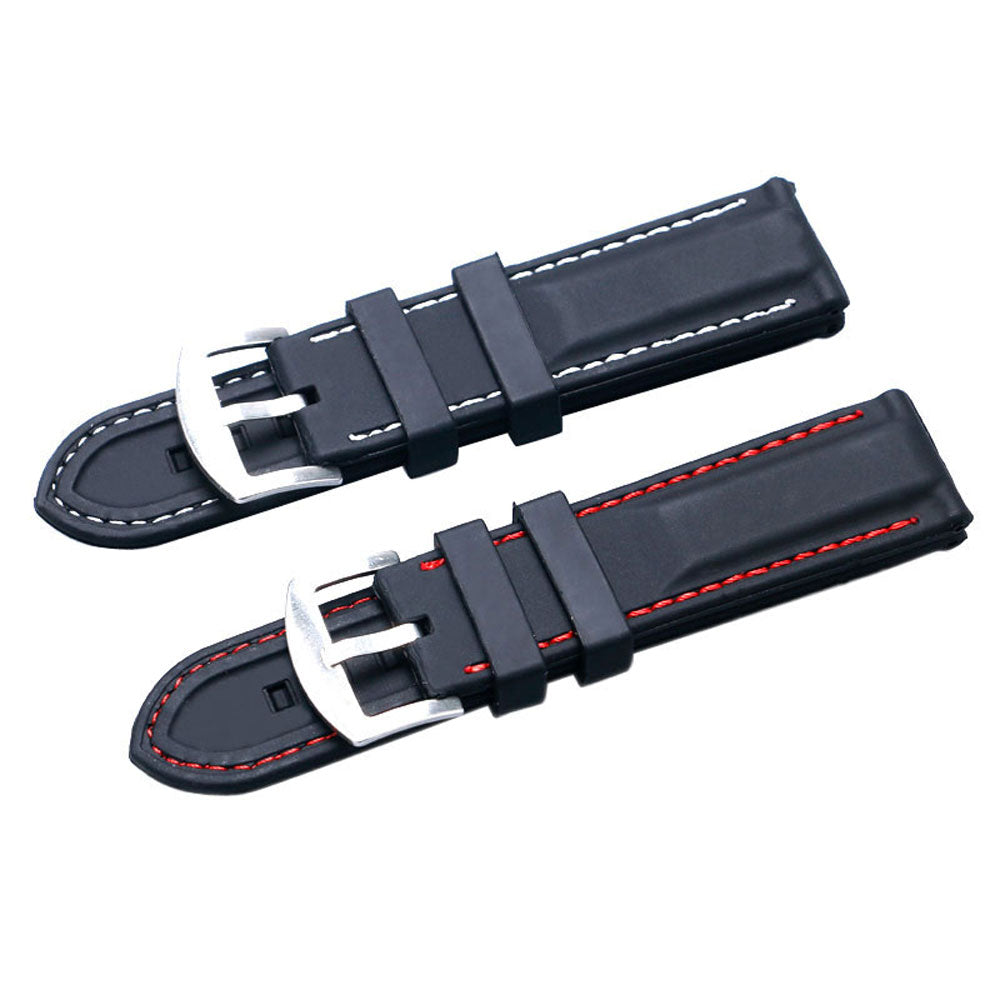 Silicone Watch Band Wristwatch Strap 22mm 24mm Watches Bracelet Accessories Men Watchbands
