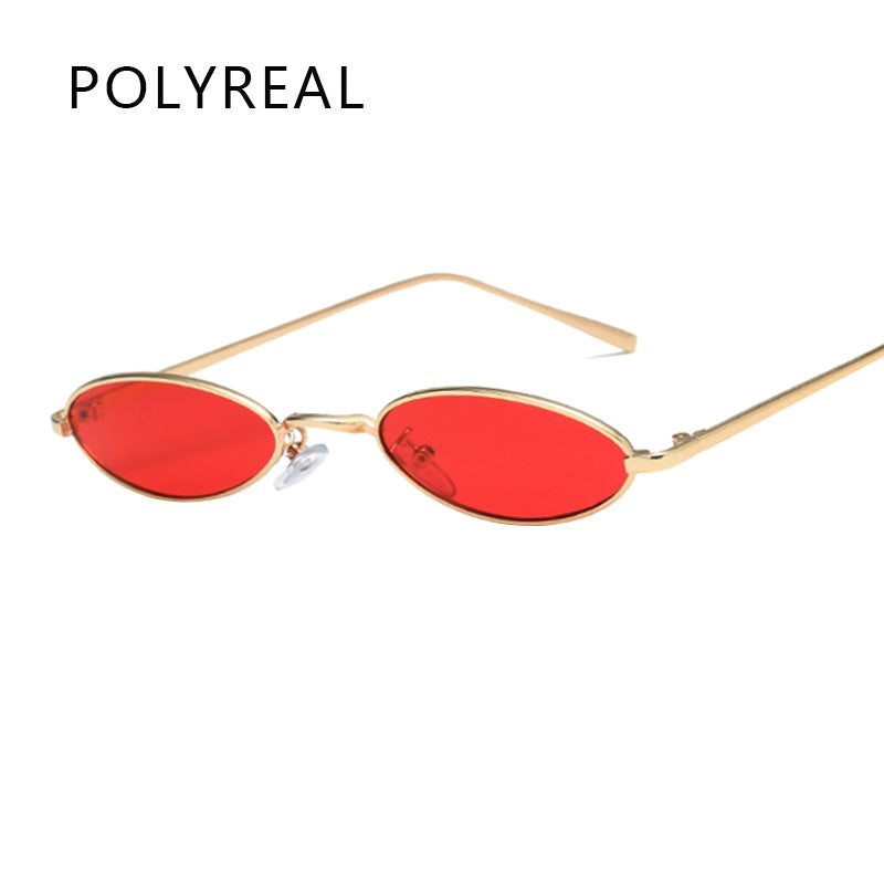 New Small Oval Steampunk Sunglasses Fashion Women Men Vintage Brand Designer Ladies Retro Round Sun Glasses for Female Male