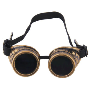 Steampunk Victorian Goggles Rave Glasses in Vintage Gold & More colors, Costume Accessory