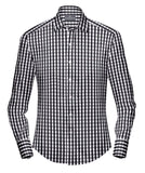 GINGHAM CHECKS BLACK SHIRT