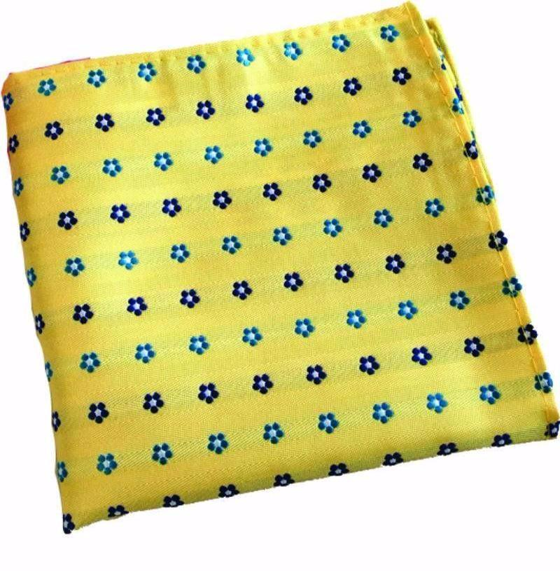 Yellow Floral Pocket Handkerchief