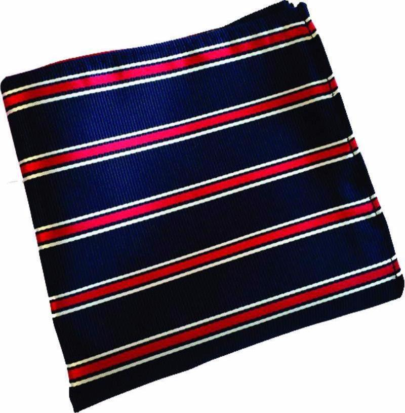 Navy Stripe Pocket Handkerchief