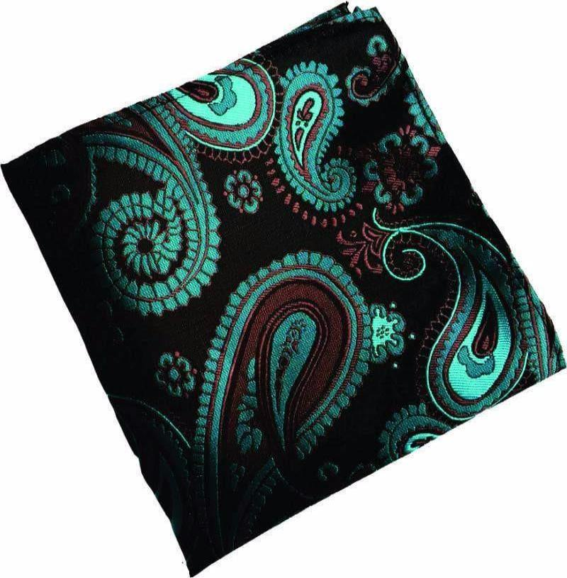 Black Paisley Pocket Handkerchief