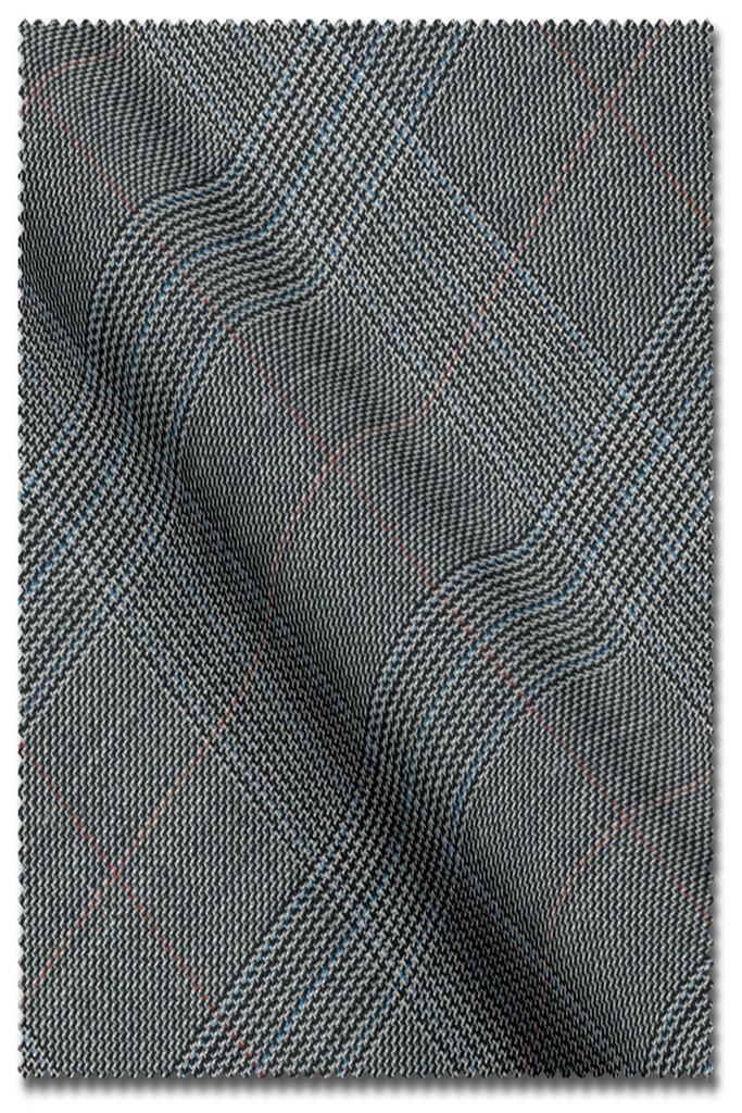 Prince of Wales Suit Light Grey