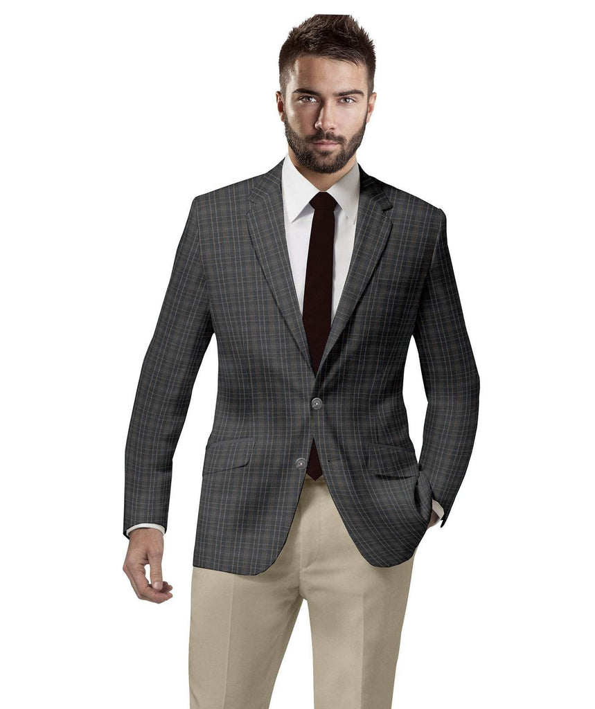 Grey Checks Sports Jacket