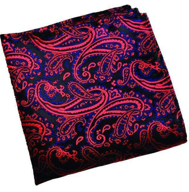 Red Paisley Pocket Square