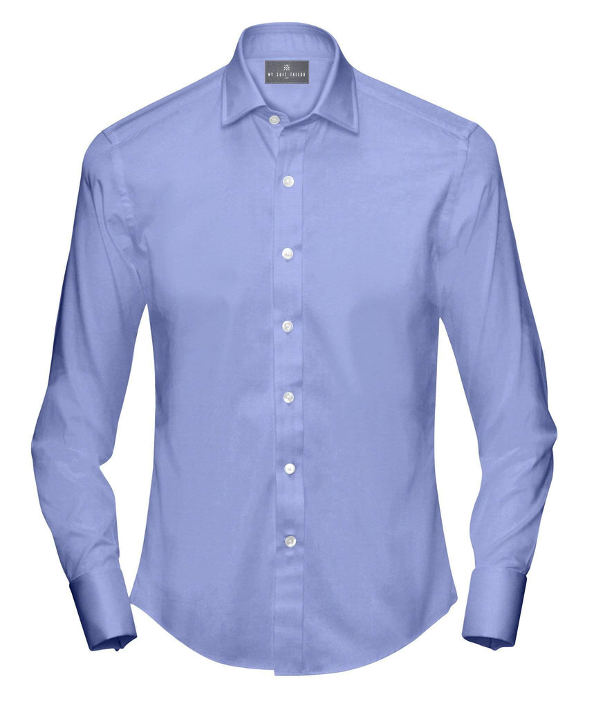 Powder Blue Twill Dress Shirt