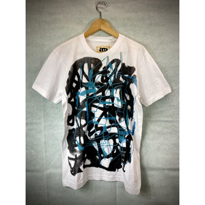 Blue Line Abstract Graf Tee - Large