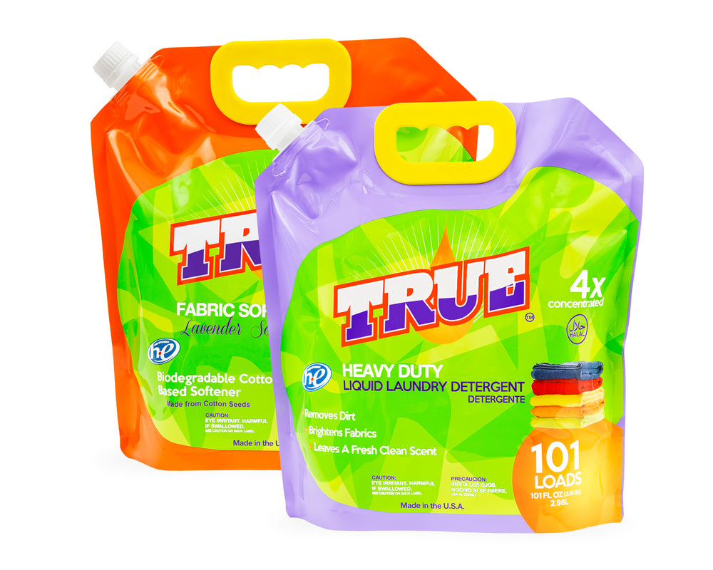 101 Load Combo • True Original Laundry Detergent + Plant Based Fabric Softener