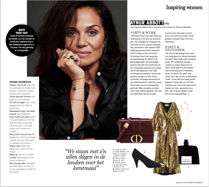 Interview in Marie Claire Netherlands