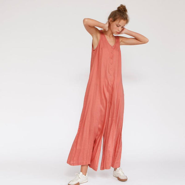 Long wide leg Jumpsuit, Pink