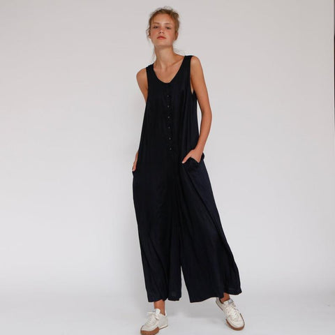 Long wide leg Jumpsuit, Dark Ivory