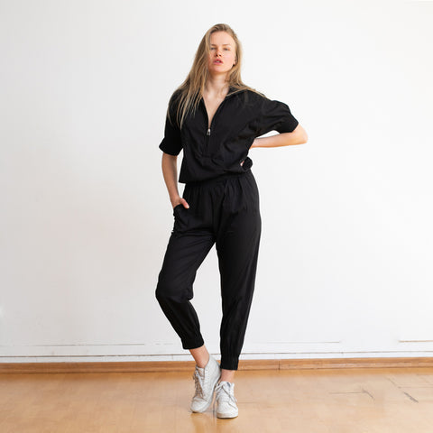 Weekday High Waist Boiler Suit ,Black.