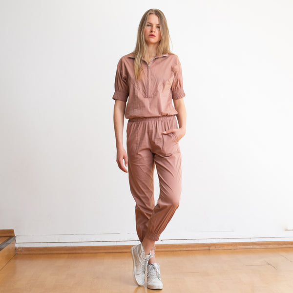 Weekday High Waist Boiler Suit ,Pink Salmon Color.