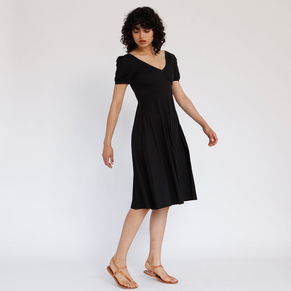 French Kiss Midi Dress, Black